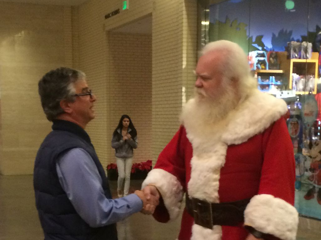 NorthPark Santa rescued The Watchdog Dave Lieber 23 years ago. They reunited during Christmas 2015. A true Christmas Day story from The Watchdog