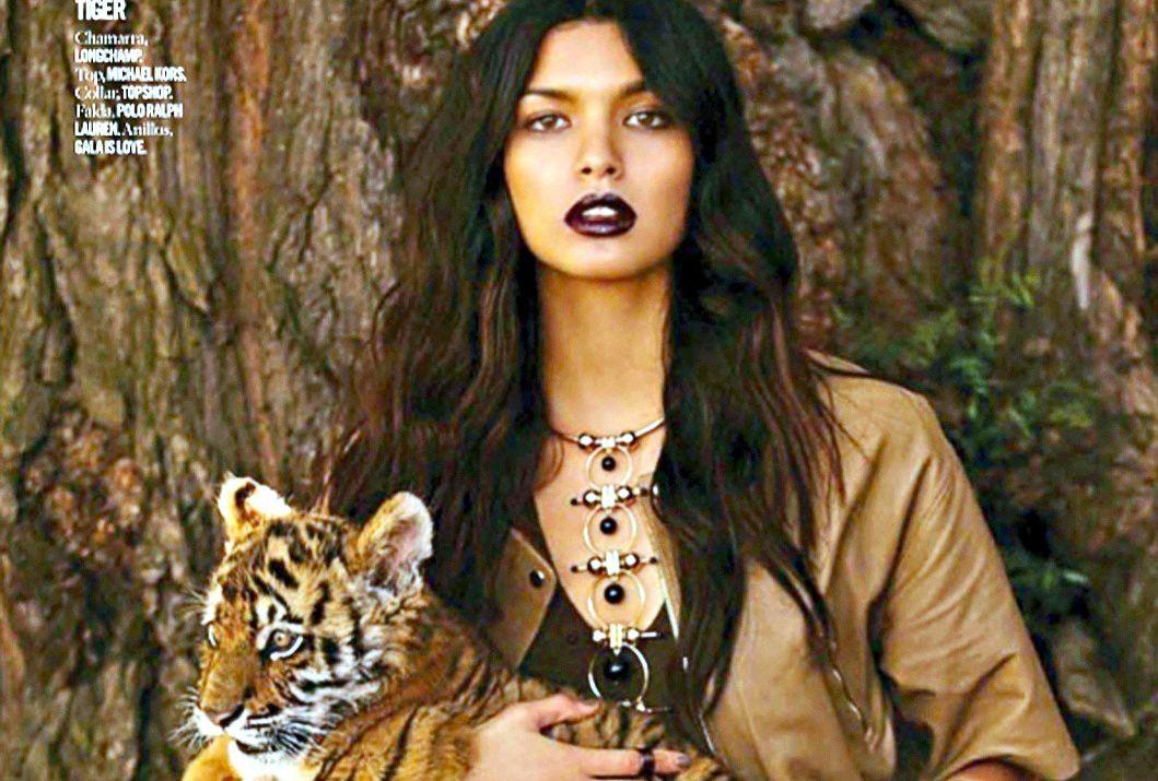 La modela mexicana Livia Arlette Rangel Dautt, en un poster publicitario. AGENCIA REFORMA.