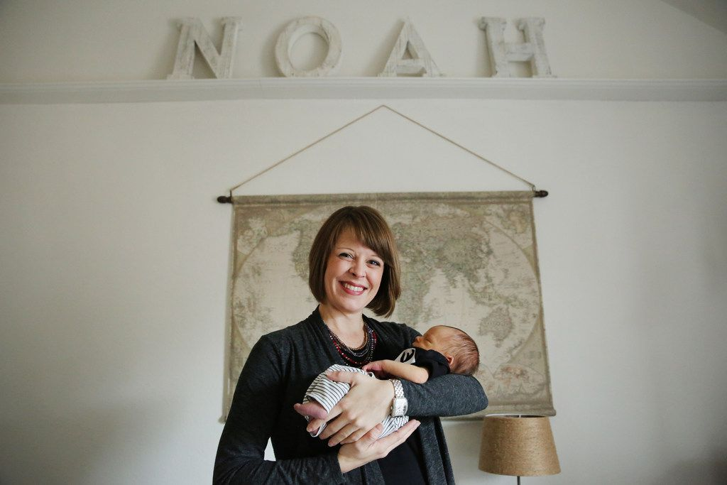 """Julie Thrift gave birth to her firstborn Noah Thrift on Nov. 27, 2017. Watchdog Dave Lieber calls him the """"AT&T baby"""" because his mother was preoccupied with resolving her constant billing issues during the early stages of labor."""