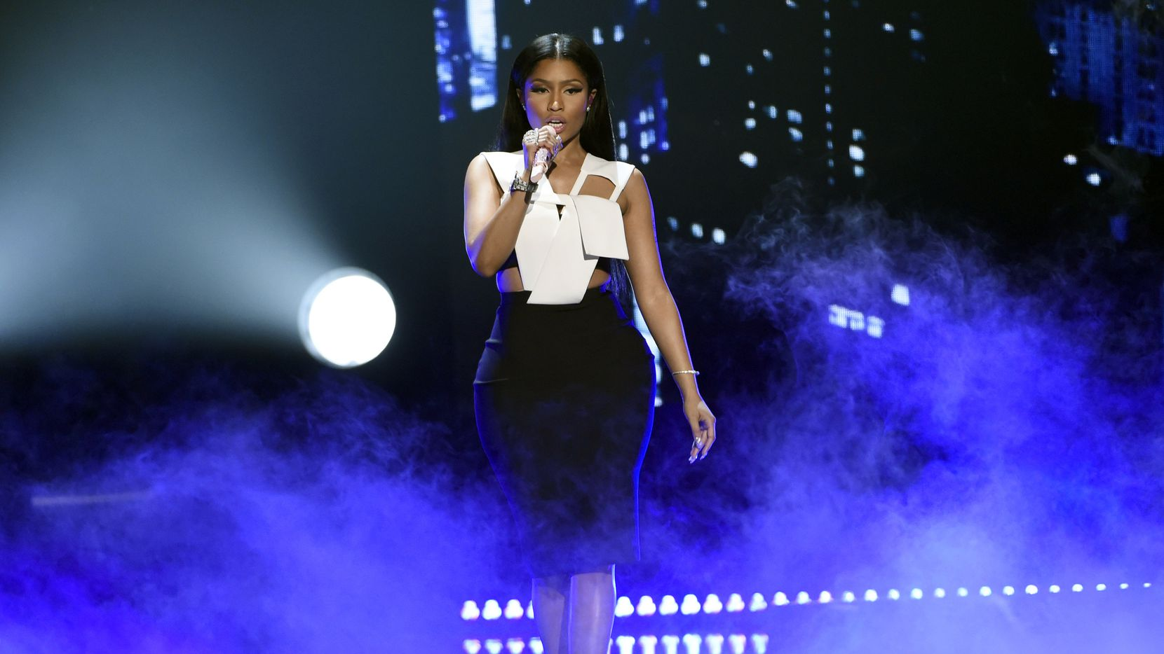 File photo: Nicki Minaj performed at the BET Awards last month in Los Angeles.