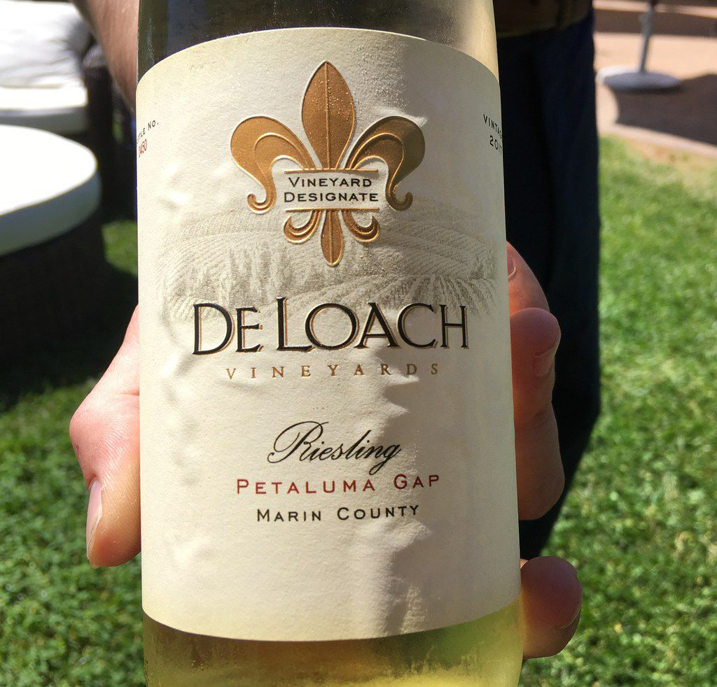 Wine club members and visitors to DeLoach Vineyards in Santa Rosa, Calif., were among the first consumers to see  Petaluma Gap  label — on a bottle of its riesling in March 2018.
