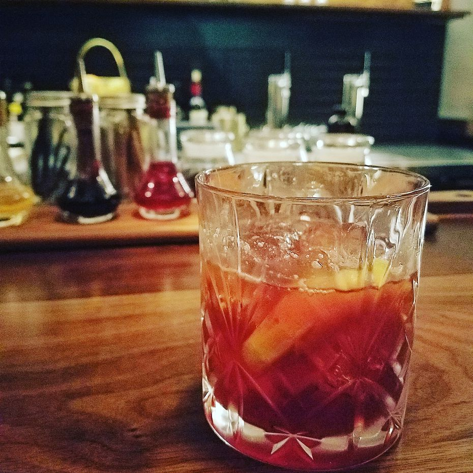 A play on the classic Boulevardier, the BLVD is one of several Jettison cocktails that incorporate coffee.