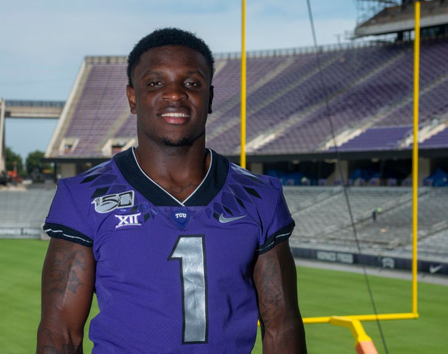 TCU wide receiver Jalen Reagor is pictured at Amon G. Carter Stadium on Aug. 1, 2019, in Fort Worth. (Robert W. Hart/Special contributor)