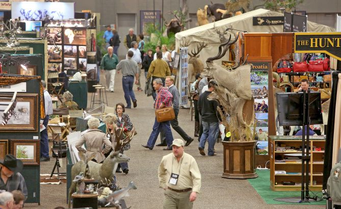 A wide vareity of vendors lined the Kay Bailey Hutchison Convention Center on Sunday, the final day of the Dallas Safari Club Convention.