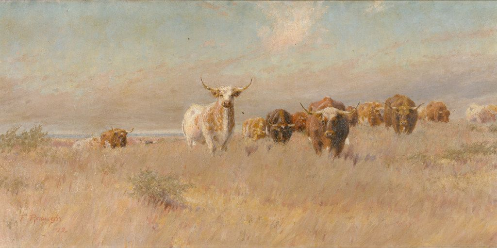 Approaching Herd  (1902), by Frank Reaugh.  (Panhandle-Plains Historical Museum, Canyon, Texas)