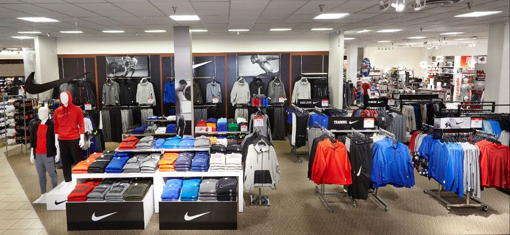 J.C. Penney is giving more attention to No. 1 apparel brand Nike. It's putting 500-square-foot Nike shops in a prominent spot in the men's department in 600 stores.