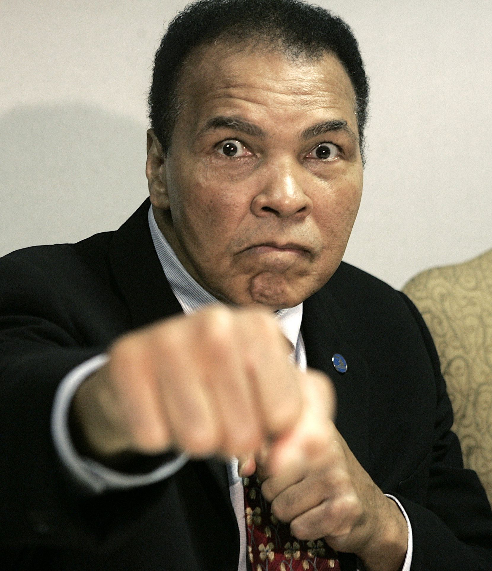 Muhammad Ali en 2006.(AP Photo/Paul Sancya)