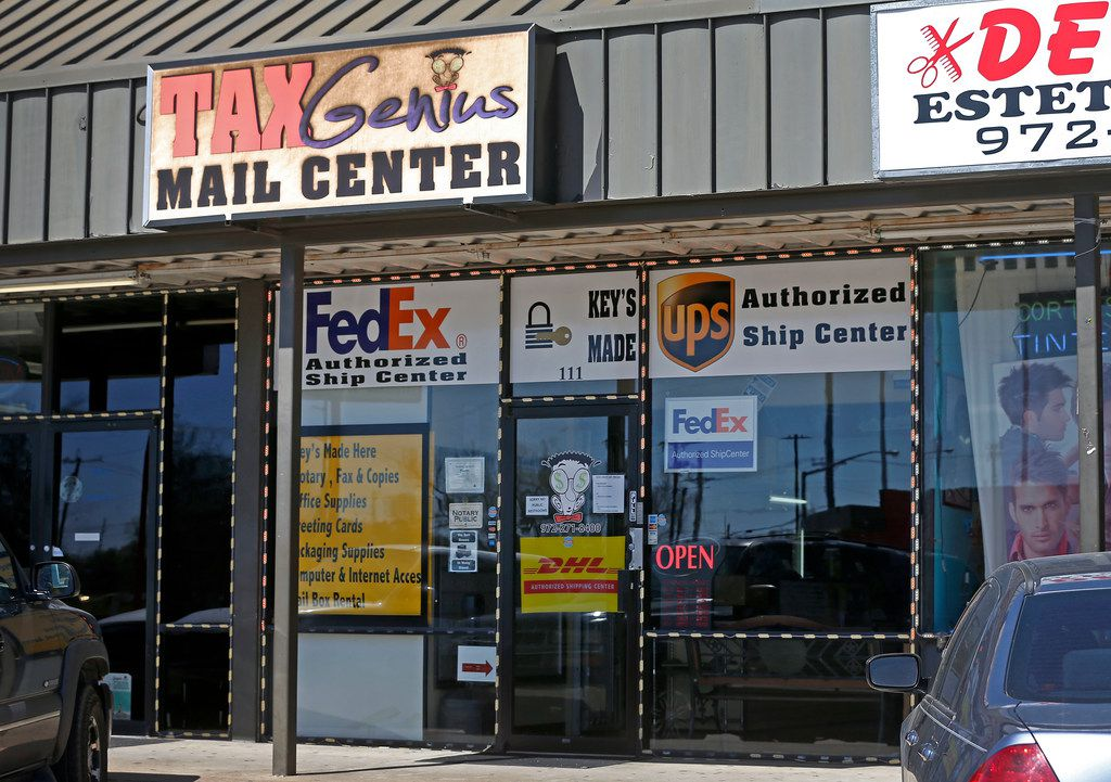 Tax Genius Mail Center at 111 East Centerville Road in Garland.