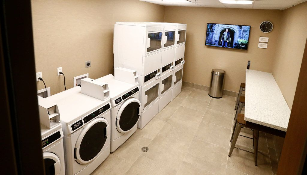 The laundry room for the Residence Inn Hotel in Dallas on Oct. 17, 2017. (Nathan Hunsinger/The Dallas Morning News)