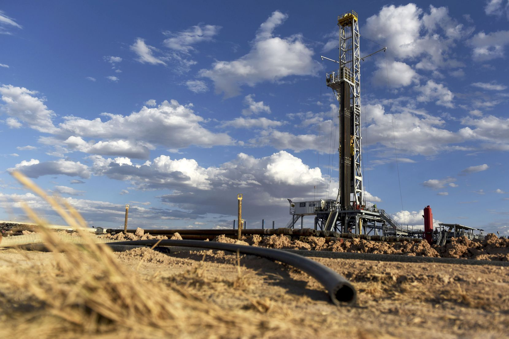 A Colgate Energy LLC oil drilling rig in Reeves County.