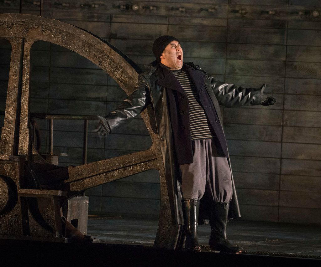 Andrew Stenson, as the Steersman, in dress rehearsal for the Dallas Opera's The Flying Dutchman on Oct. 9, 2018 at the Winspear Opera House (Robert W. Hart/Special Contributor)