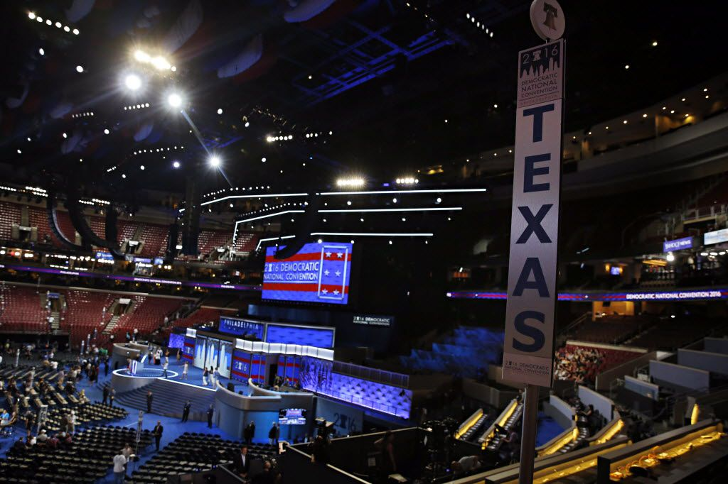 This is the section of the Wells Fargo Center where the Texas delegation will sit at the Democratic National Convention this week in Philadelphia. (G.J. McCarthy/Staff Photographer)