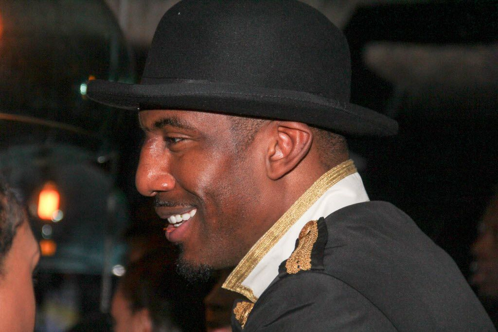 Amar'e Stoudemire at his welcome party
