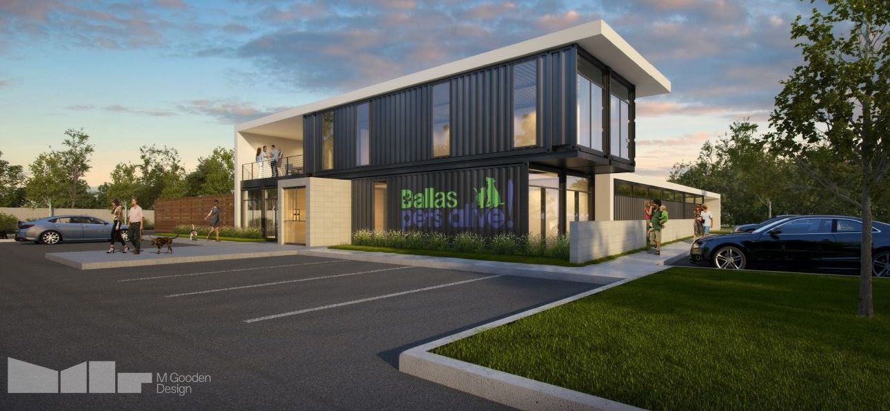 Dallas Pets Alive! is working to raise $1 million to build a new pet adoption center out of used shipping containers.
