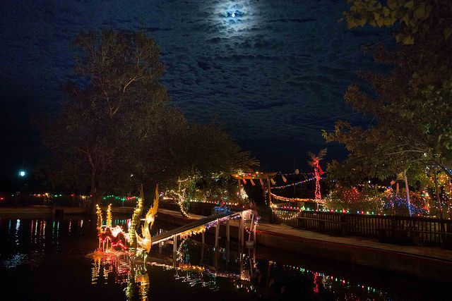 The Wat Lao Rockwalll celebrated the Lantern of Lights Festival Saturday. Photos by Jarvis Jacobs/Special Contributor.