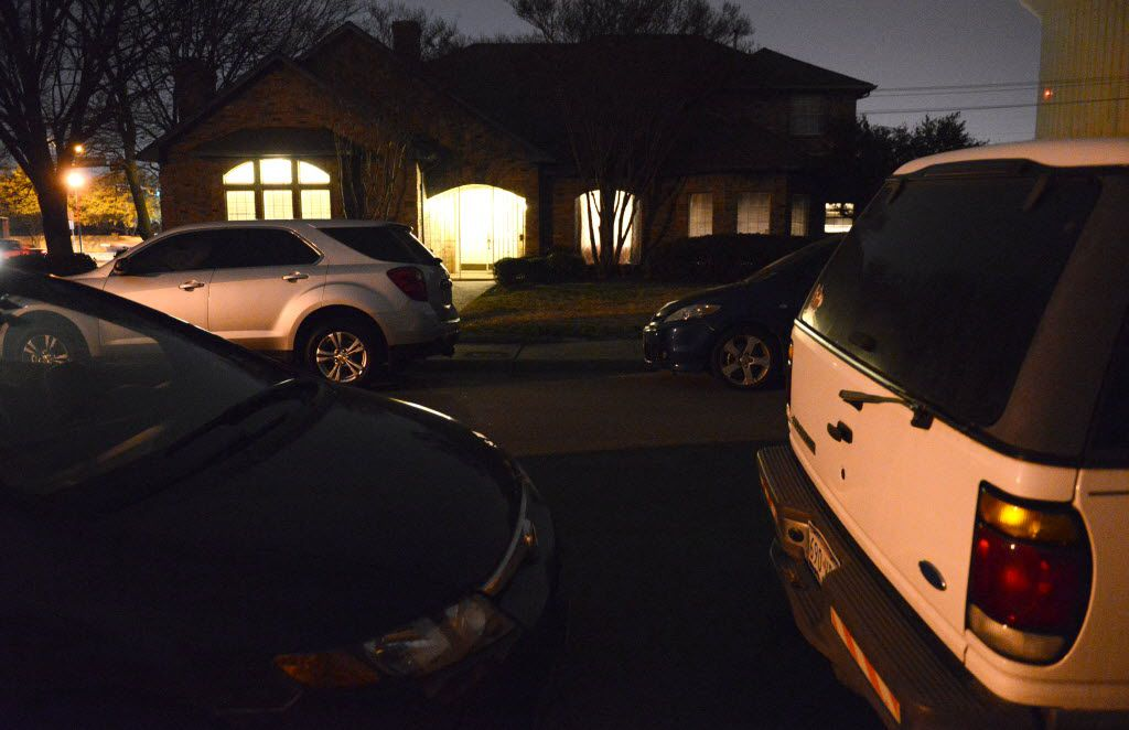 Cars parked outside the residents that houses Toras Chaim in 2014, before the city sued over its lack of a certificate of occupancy