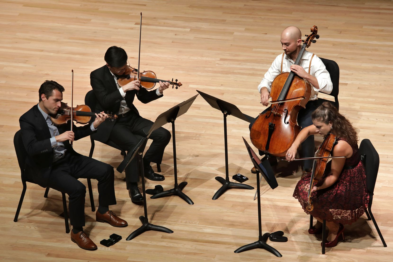 The Dover Quartet performs at Southern Methodist University's Caruth Auditorium on Oct. 21, 2019.