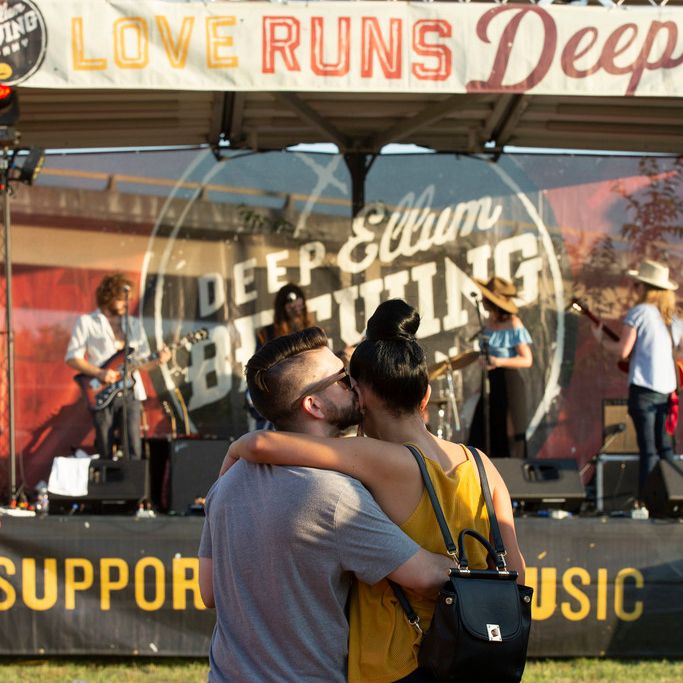 Live music is part of Brew-BQ at Deep Ellum Brewing Company.