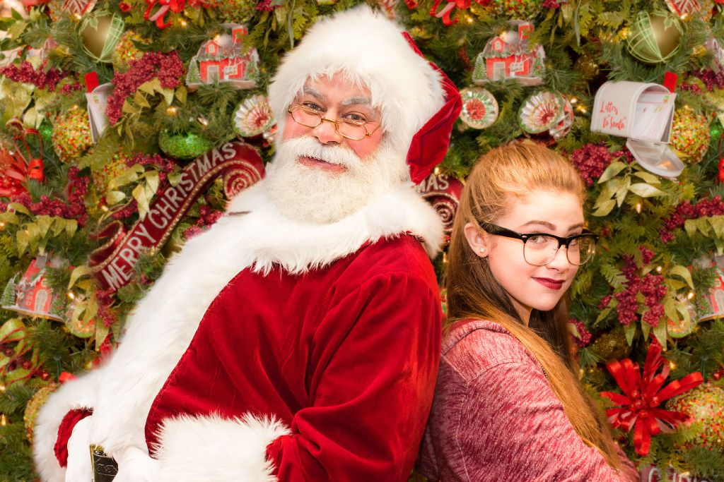 (from l-r) Greg Dulcie plays Santa and Josie Dawn plays Beatrice in 'Santa Claus -- A New Musical' Nov. 25-Dec. 23, 2016 at Casa Ma ana Theatre in Fort Worth.