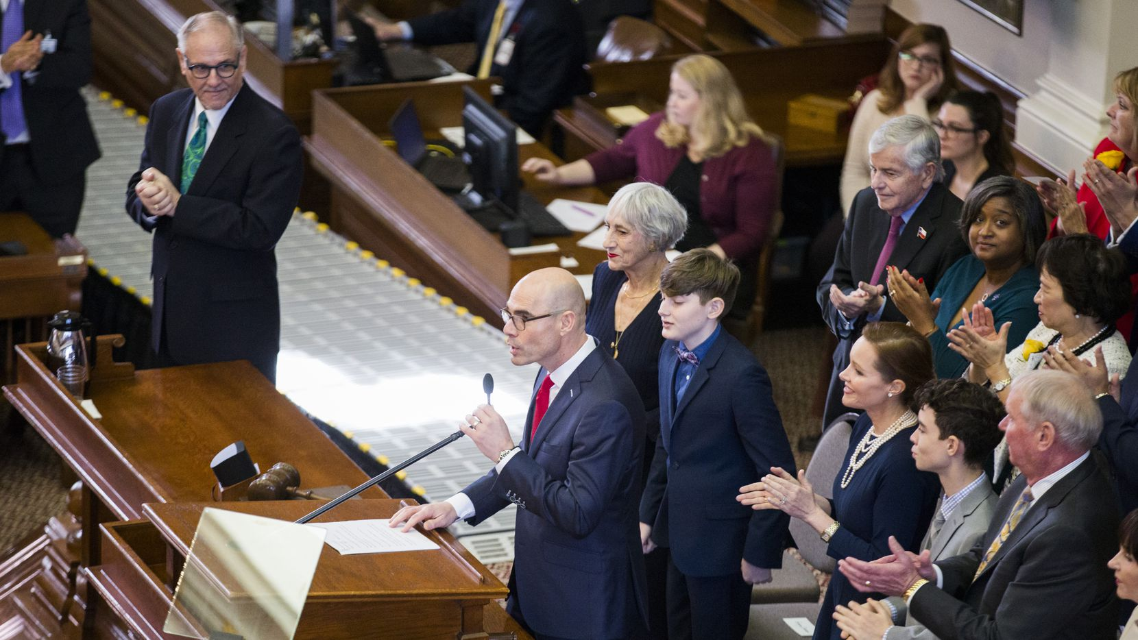 Speaker of the House Dennis Bonnen of Angleton speaks during a session. With one week left in the session, a number of Republican-authored bills that had stirred strong opposition from Democrats were left off the House's agenda.
