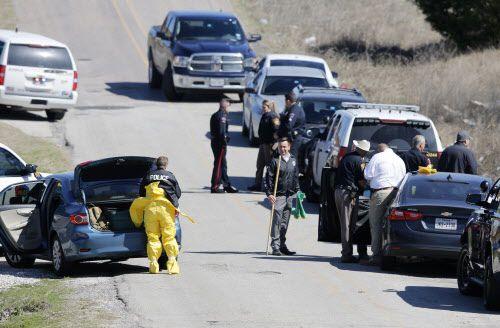 La policía de Plano investiga desde el miércoles el lugar donde se encontraron unos restos humanos que podrían ser los de Christina Morris. VERNON BRYANT/DMN