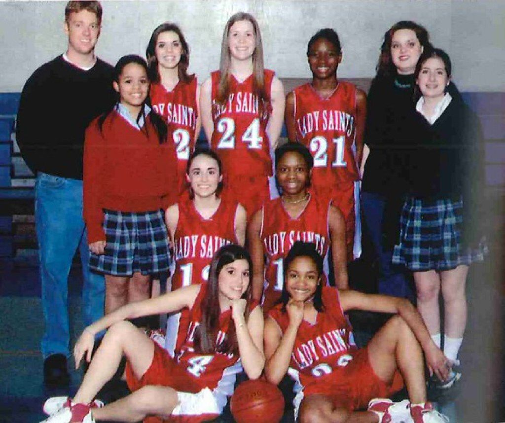 Rachel Lindsay played guard and forward on the First Baptist Academy women's basketball team and was captain her senior year of high school. (She's the smiley gal in the front row.)