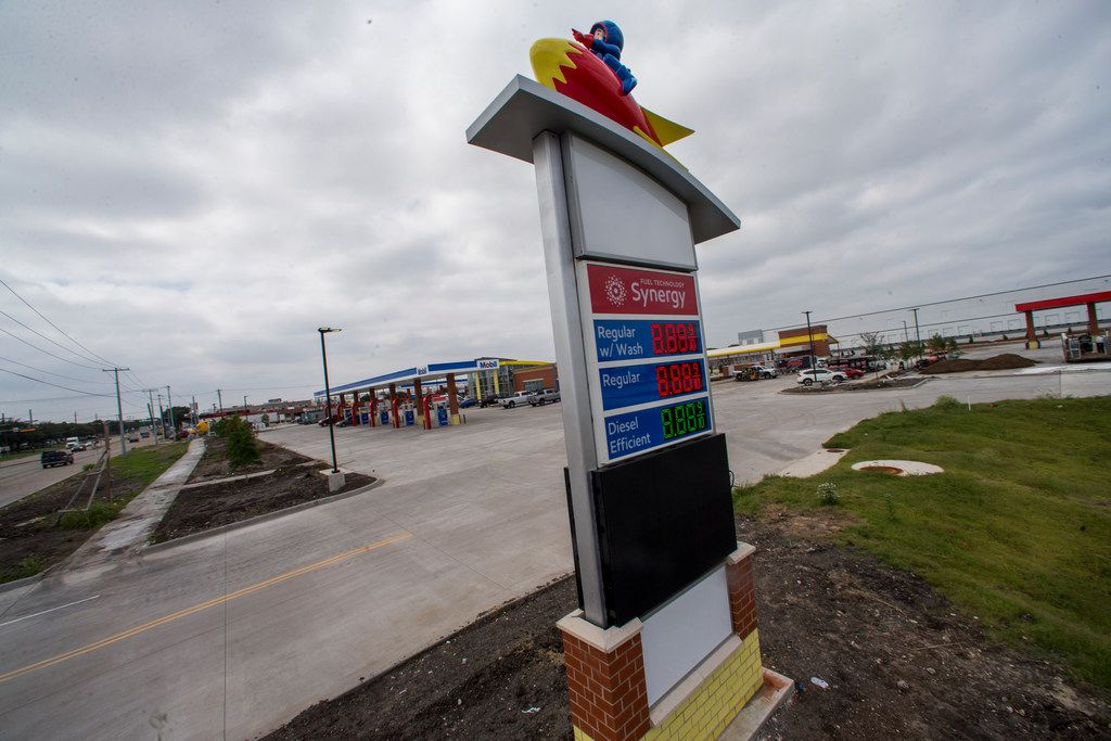 Ricky Rockets Fuel Center photographed on Thursday, September 27, 2018 at the corner of west Miller road and south Jupiter road in Garland, Texas. Ricky Rockets, an Illinois company, is set to open its first location outside its home state later this year in Garland. (Shaban Athuman/The Dallas Morning News)