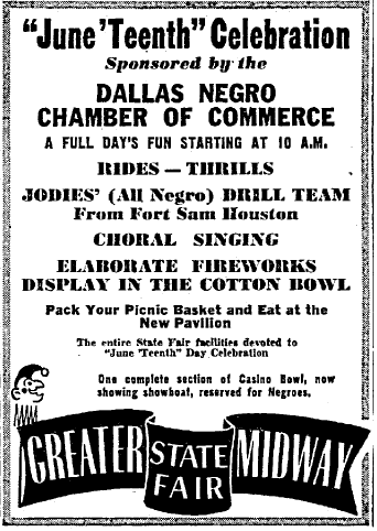 This advertisement was published on June 18, 1947 in The Dallas Morning News.