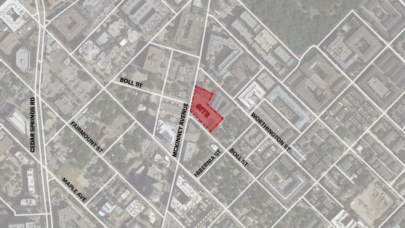 Endeavor Real Estate Group wants to build on McKinney Avenue at Boll Street.