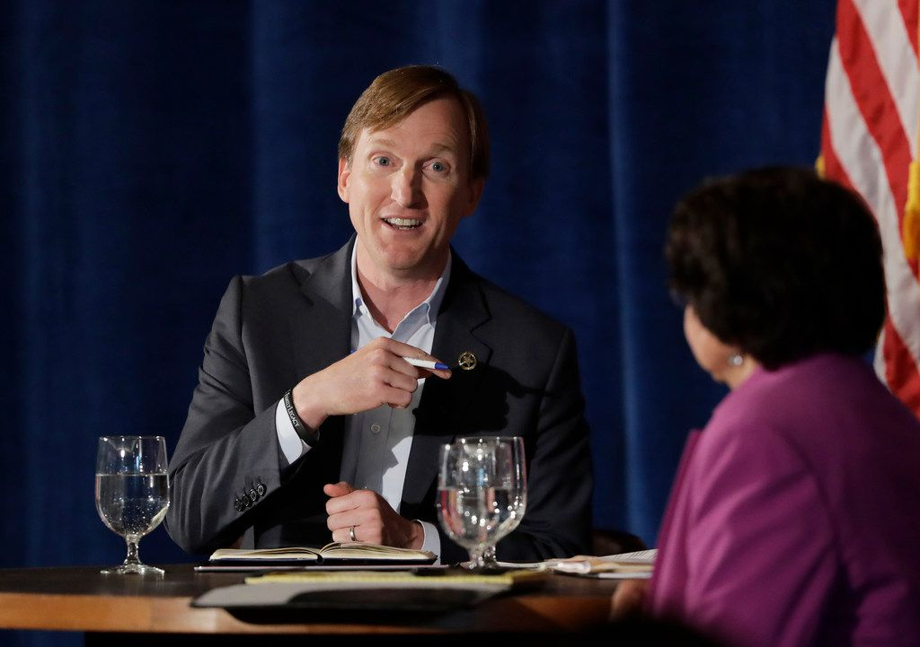 Texas Democratic gubernatorial candidates Andrew White and Lupe Valdez took part in a debate May 11. White says he's the Democrats' best hope for defeating Gov. Greg Abbott, but many progressive primary voters see Valdez as more reflective of their liberal leanings.