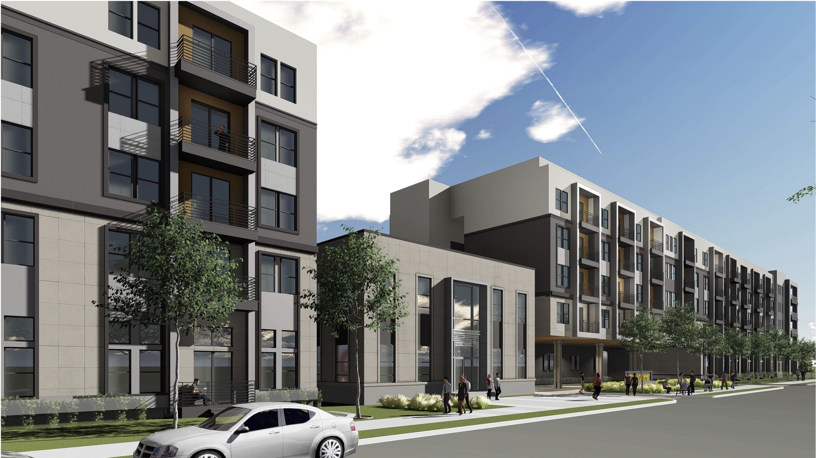 Leon Capital Group is building the apartment project just east of downtown Dallas.