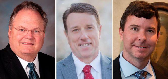 The Republican candidates for Texas Senate District 30 are incumbent Craig Estes (left), Pat Fallon (center) and Craig Carter.