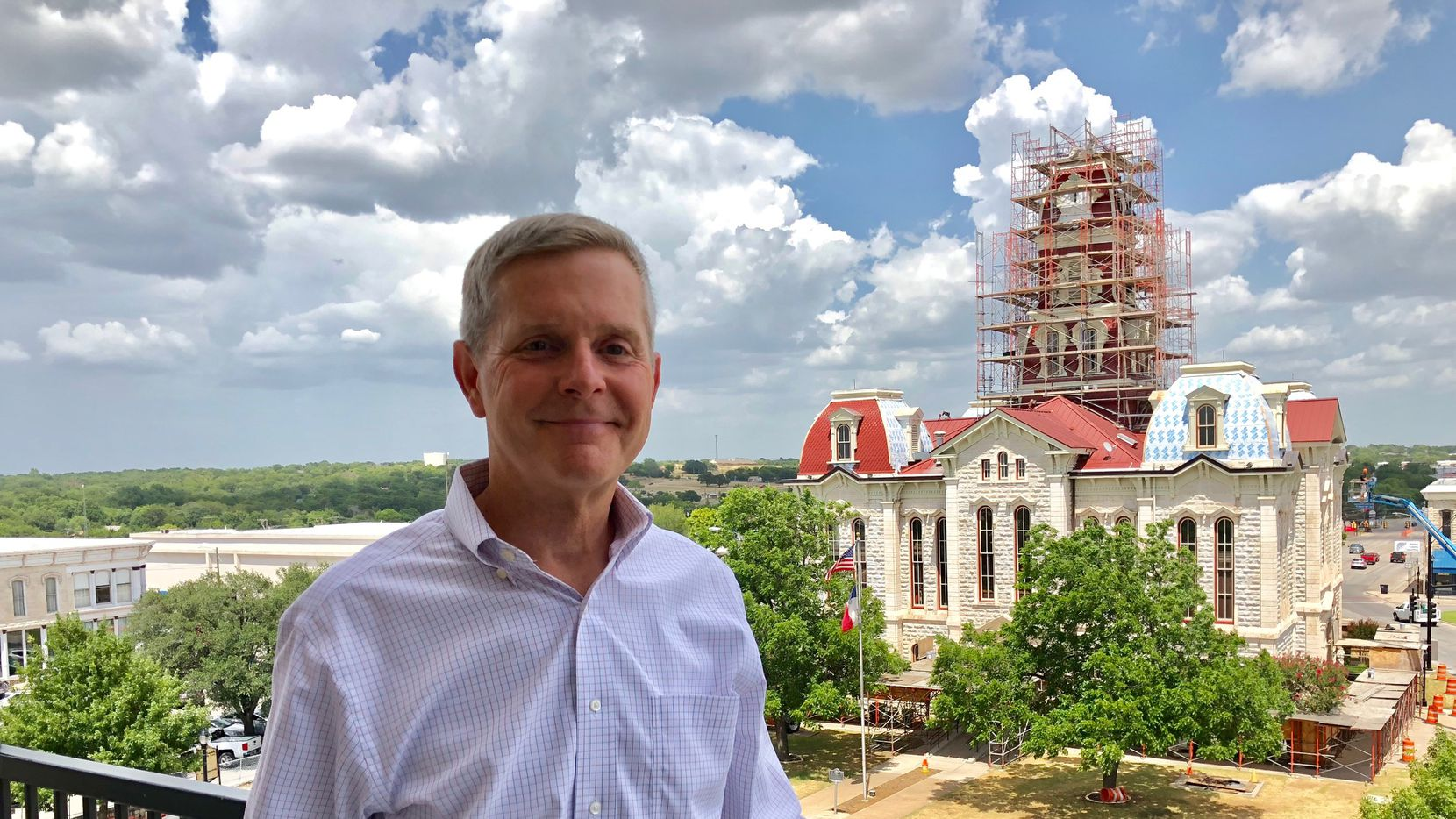 State Rep. Phil King at his Weatherford office. He helped pass a law 20 years ago to deregulate electricity in Texas. Now The Watchdog asks him to help fix broken parts of the system. King is running for House speaker.