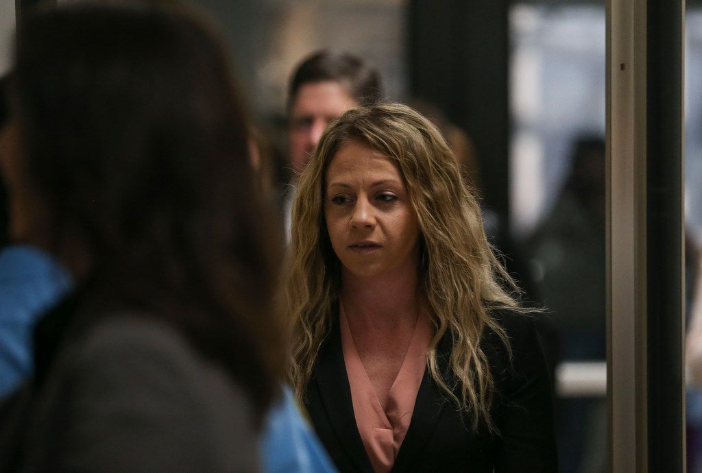 Former Dallas police Officer Amber Guyger arrived at the Frank Crowley Courts Building in Dallas on Thursday, June 6, 2019. Guyger is charged with murder in the Sept. 6 shooting death of Botham Jean in his own apartment.