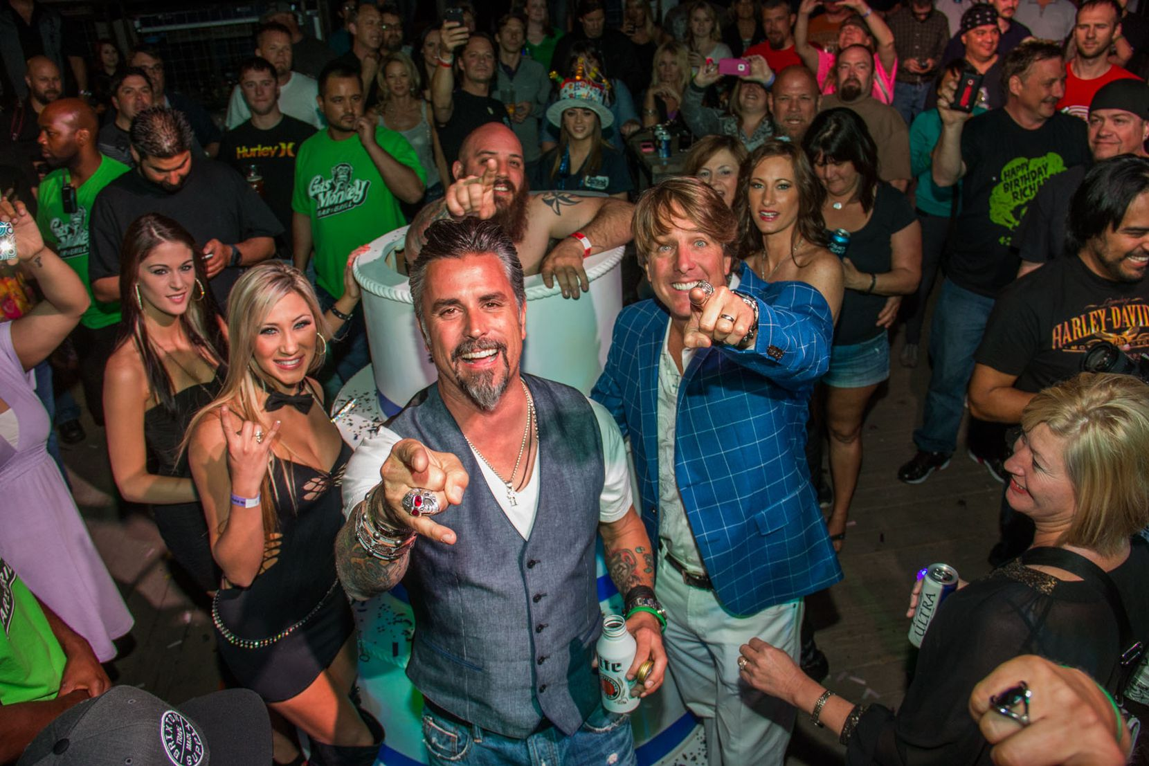 Richard Rawlings celebrated with his fans and friends at the Gas Monkey Bar N' Grill for his birthday party blowout on April 24, 2014, which raised funds for the Gas Monkey Foundation.