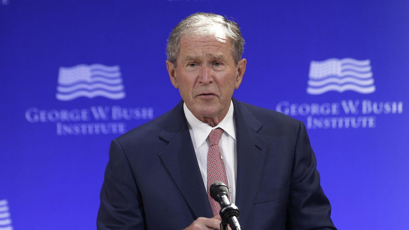 Ex presidente George W. Bush Foto: Seth Wenig/AP