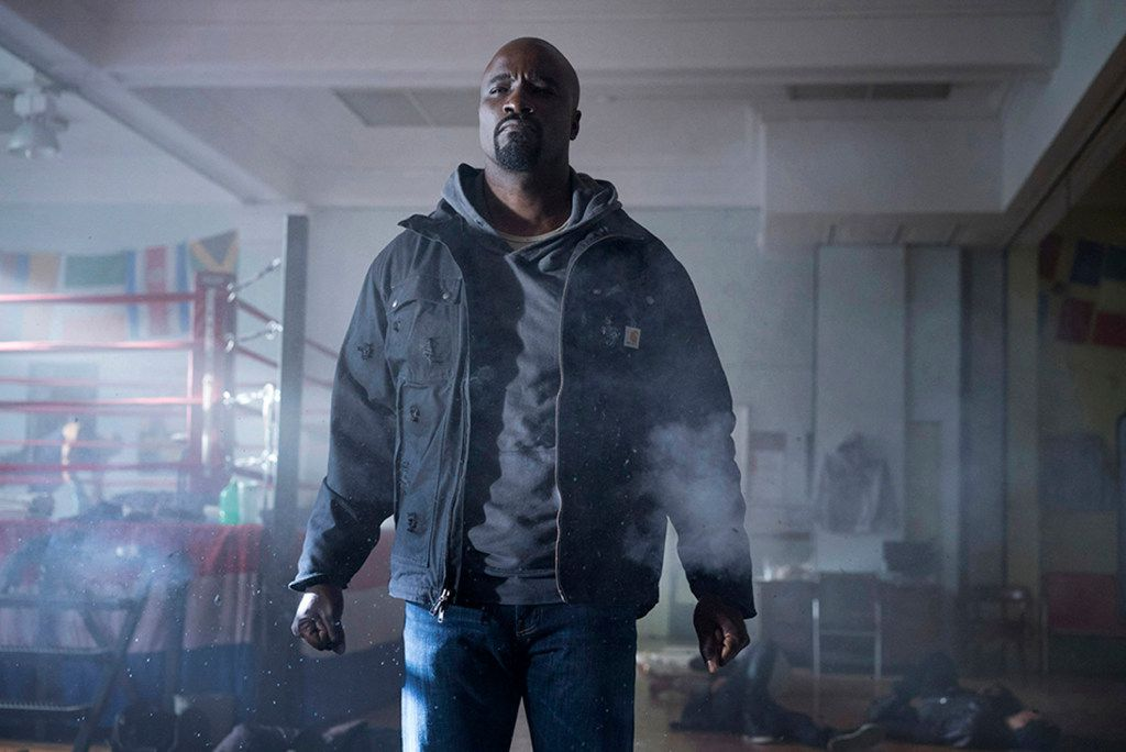 """Mike Colter stars in """"Luke Cage,"""" coming Sept. 30, 2016 on Netflix."""