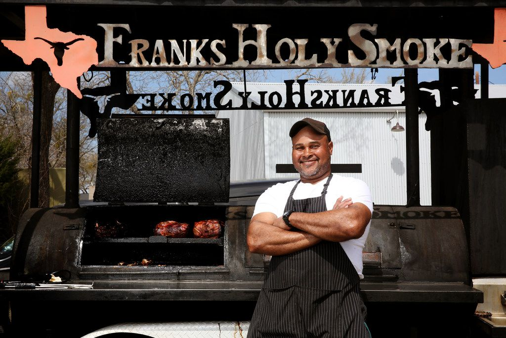 Owner Abraham Franks at Franks Holy Smoke BBQ in Ovilla.