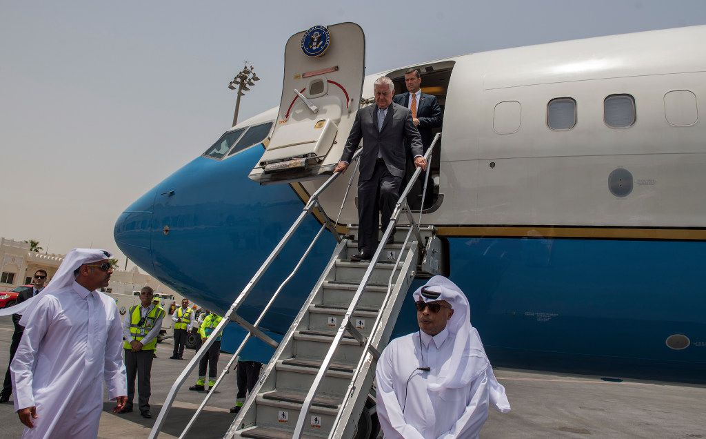 Secretary of State Rex Tillerson arrived in Doha, Qatar,  on Thursday. The top U.S. diplomat wrapped up his first foray in shuttle diplomacy Thursday with little sign of progress in breaking a deadlock between Qatar and four Arab neighbors that are isolating it.