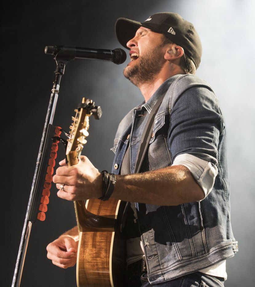 Luke Bryan performs at Gexa Energy Pavilion on Friday, Oct. 23, 2015.