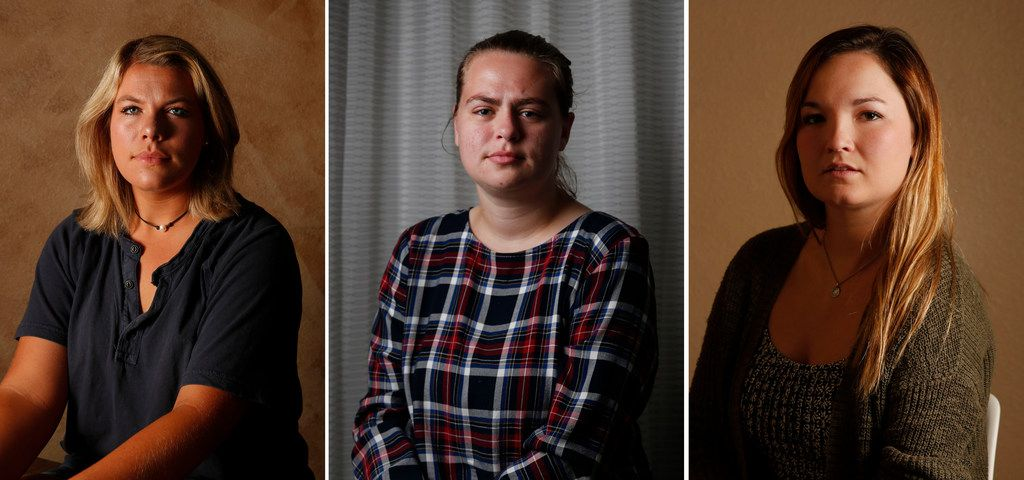 From left: Texas A&M students Kendra Bailey, 22; Hannah Shaw, 20; and former student Meghan Romere, 22; were among 10 women who told The Dallas Morning News that the university responded inadequately to campus sexual assaults reported to school officials.