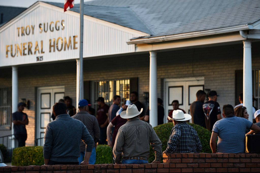 Hundreds of friends and family members came to Troy Suggs Funeral Home in Dallas to pay respects to Raul Ortega Cabrera, 35, and his family before his funeral, which was held Friday in Dallas