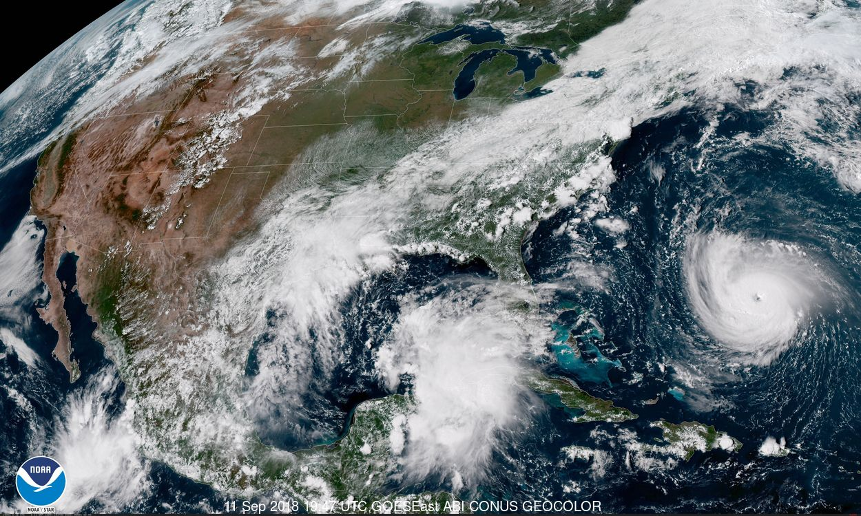 The National Hurricane Center reported Tuesday afternoon that an area of disturbance near the Yucatan Peninsula has a 70 percent of becoming a tropical depression by Thursday night.