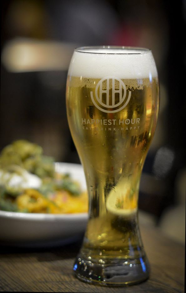 A fresh draft beer at Happiest Hour