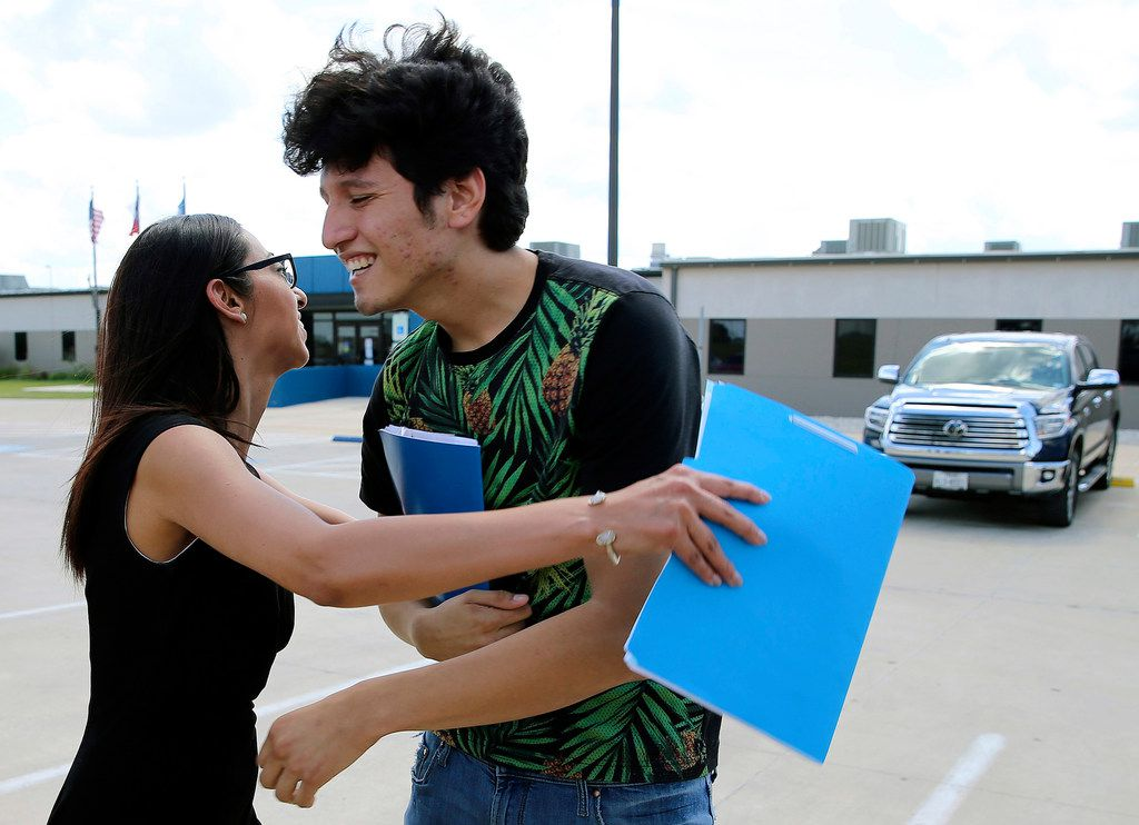Francisco Galicia, 18, got a hug from his attorney, Claudia Galan, after his release from the South Texas Detention Facility in Pearsall, Texas, on Tuesday. Galicia, a U.S. citizen who was born in Dallas,  was released from immigration custody after wrongfully being detained for more than three weeks. Galicia lives in Edinburg and was traveling with a group of friends when they were stopped at a Border Patrol checkpoint. According to Galan, agents apprehended Galicia on suspicion that he was in the U.S. illegally even though he had a Texas state ID.