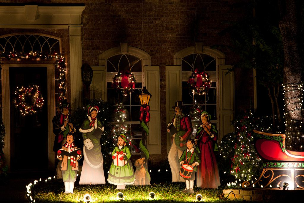 Plano's Deerfield neighborhood is a popular place to see Christmas lights.