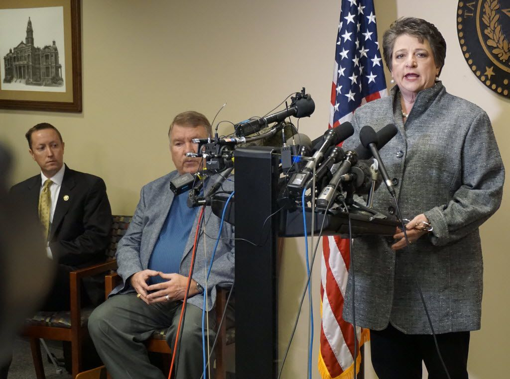 Tarrant County District Attorney Sharen Wilson, shown at a 2015 news conference, has a strict policy on when to seek the death penalty.