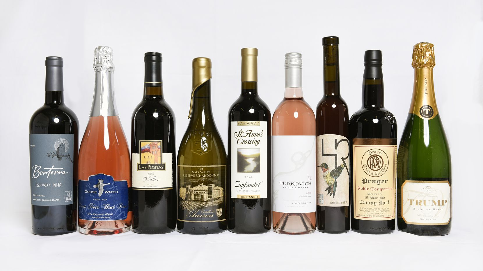 Sweepstake medal winners of the 2019 San Francisco Chronicle Wine Competition include Nectar Nero from Texas, third from right, in the specialty wine category.