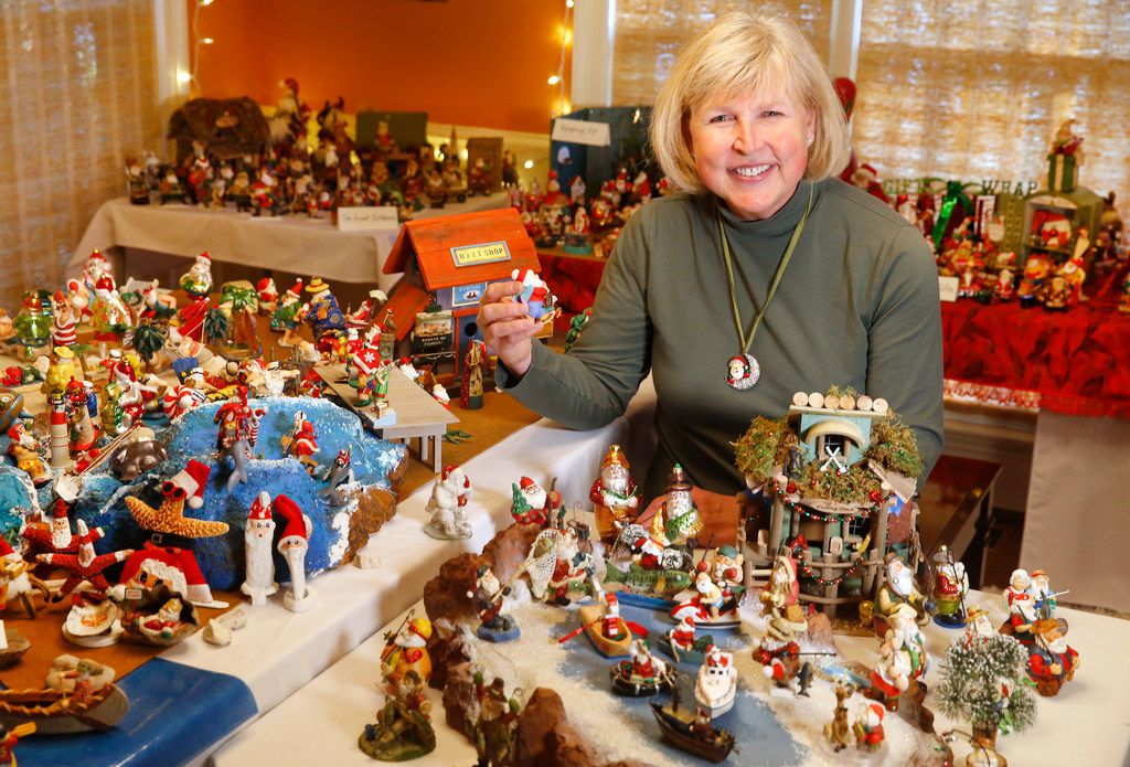 Janny Strickland inherited her mother's Santa figurine collection. Strickland is displaying all 3,813 of them for the first and last time at her University Park home.