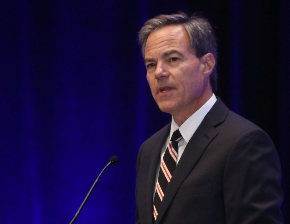 Texas House Speaker Joe Straus gives a keynote speech during the 85th Legislative Session Preview hosted by the Dallas Regional Chamber on Tuesday.